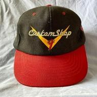 Vintage Classic 'Fender Custom Shop' Logo Baseball Cap USA