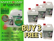 (BUY 3 FREE 1) AF - Safety care sanitizer (5L) non-alcohol Anti-Bacterial Disinfectant 5L cleanser sanitizer 消毒液 消毒水 Kill bacteria / germs /virus 99.99