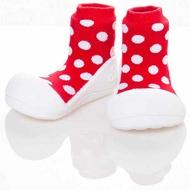 韓國 Attipas 快樂腳襪型學步鞋-圓點紅好窩生活節