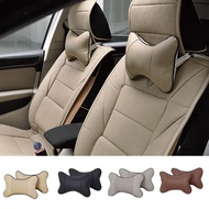 Fashion Car Seat Headrest Pad Memory Foam Leather Head Neck Rest Cushion Pillow
