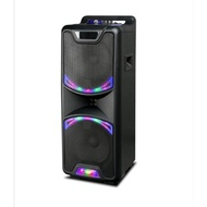 AVCROWNS CH-1026 10 inch speakers portable wireless bluetooth speaker with dual Mic.
