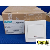 [Shop Malaysia] Hager Muse Switch / Socket / 20AX DP / 16AX 1G / 2G / 3G / 4G / TV / Astro/ Tel / Cat5e / Cat6e Outlet y