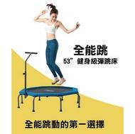 【Fitwell】全能跳彈跳床-53吋八角扶手彈跳床/跳跳床-健身跳床/健身床/感統/扶手彈跳床/可折疊彈跳床