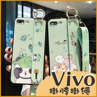 Vivo X50 Pro V17 Y15 Y12 Y17 Y19 動物園 黑白熊貓 貓咪 全包邊軟殼 掛脖掛繩 手機殼 防丟保護套
