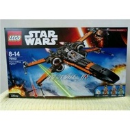 2015 LEGO 75102 STAR WARS First Order Poe's X-Wing全新未拆~