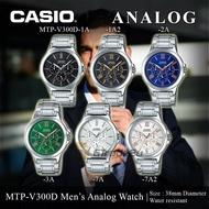 นาฬิกา CASIO รุ่น MTP-V300D ของแท้ประกัน cmg 1 ปี สายสแตนเลส