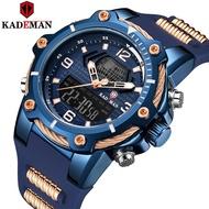 KADEMAN K9055 Top Luxury Brand Men Watch Quartz Rubber Strap Sport Watches Waterproof Wristwatch
