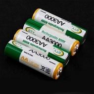 3號 充電電池【4顆1組】3000mAh 1.2V 大容量 三號電池 AA Ni/MH 鎳氫電池 (19-299)