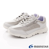 ◍零碼◍日本月星Moonstar機能女鞋輕量柔軟系列3E寬楦抗菌防水鞋款1627銀(女段)SUPER SALE樂天購物節