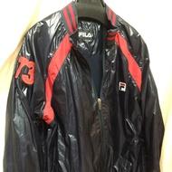 FILA 正版 運動 外套 風衣 飛行 夾克 時尚 有型 造型 黑色 物超所值 外套