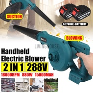Blowers 288V Cordless Electric Air Blower Vacuum Cleanner Blower For Makita 18V Battery
