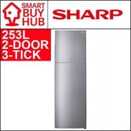 SHARP SJ-RX34E 253L 2-DOOR FRIDGE (3 TICKS)