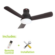 KDK Ceiling Fan 48inch with Installation, 3 Blades, Remote Control