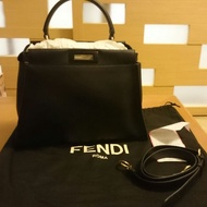 Fendi peekaboo regular 黑金款