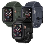 SGP / Spigen Apple Watch Series 6/5/4/SE (44mm) Rugged Armor Pro-防摔保護殼專業版-三色(錶帶一體成型)軍綠