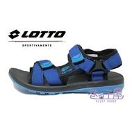 LOTTO樂得-義大利第一品牌 女款/大童款輕量避震織帶涼鞋 [6186] 藍【巷子屋】