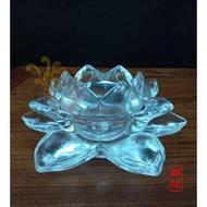 【錦桂】八國酥油 / 立體玻璃蓮花杯玻璃燭杯 / 酥油粒專用燭台杯 / 燭臺杯 / 適用A201 A202