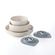 BONNSU-舊金山Miniware天然寶貝碗組-小小食神5入組-白MS5-01