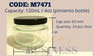 glass jar 120ml/ 4oz