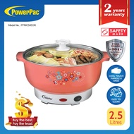 PowerPac Steamboat 2.5L Electric Multi cooker noodle cooker Steamboat pot with 304 Stainless steel inner pot (PPMC585OR)