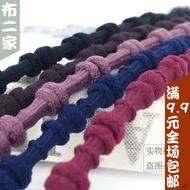 現貨可批發韓國雙節棍彈力橡皮筋 頭花松緊線牛筋繩打結發圈發繩手繩DIY輔料