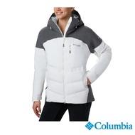 【Columbia 哥倫比亞】女款-Omni-HEAT3D防水保暖羽絨外套-白色(UWR01810WT / 保暖.防水.休閒)