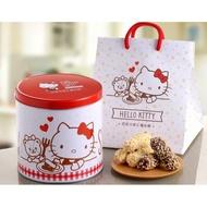 ✨。健康本舖。📣 最新效期 Hello kitty 巧克力杏仁捲心酥禮盒 圓鐵盒設計14包入 過年禮盒 佳節送禮
