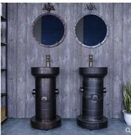 工業風復古藝術洗手盆衛生間個性油桶洗手台創意立柱一體式洗手池