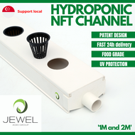 Sprout lab   Hydroponic NFT Channel (1m,8 holes/ 2m,10 holes)   Food Grade   Patent Design   NFT Gutter   Hydroponic system