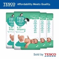 ((OFFER!! PROMOTION😘😘😘))Pampers Tesco Fred -Flo tape diapers combo 4 packs