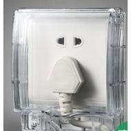 尾牙年貨節電氣 天甲一位開關電源插座防水面板蓋 透明防水盒防濺盒《台北日光》