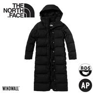 【The North Face 美國 女防風保暖長版羽絨外套《黑》】3VUW/羽絨衣/防風外套