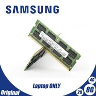 Samsung หน่วยความจำแล็ปท็อป 2GB 4GB 8GB 2G 4G PC2 PC3 DDR2 DDR3 667 MHz 800 MHZ 1333Hz 1600 MHz 5300S 6400 8500 10600 ECC Notebook RAM PC