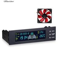 💮滿299包郵💮 風扇調速器光驅位5.25寸電腦箱調速器臺式機溫度控制器