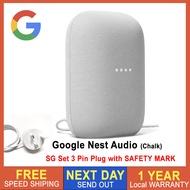 [SG Seller] Google Nest Audio Nest Hub Nest Mini 2nd GEN Smart Speaker Voice Control - Singapore Local Set with SAFETY MARK 3 Pin Plug - Google Nest Audio Google Nest Hub Google Nest Mini 2nd Generation [Local Warranty]