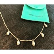 Tiffany's 純銀水滴項鏈 稀有五顆水滴款