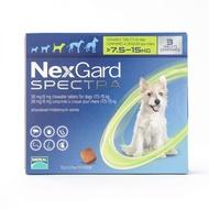 Nexgard Spectra | ยากำจัดเห็บ หมัด สุนัข ชนิดเม็ด สำหรับสุนัขที่มีน้ำหนัก 7.5-15 กิโลกรัม