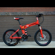 HOSQUICK20-Inch21/24/27Variable Speed Children's Male and Female Integrated Wheel Double Shock Absorber Disc Brake off-Road Folding Mountain Bike