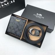 Coa ch Men 2 Pcs/set Wallets and Leather Belt