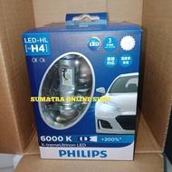 Philips Xtreme Ultinon Led H4 6000k 200% White Car Headlamp