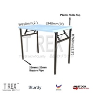 3V 2' x 3' Folding Banquet Table / Foldable Banquet Table / Function Table / Catering Table / Buffer Table / Hall Table / Office Table / Folding Table with Plastic Table Top (Black)