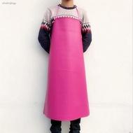 ❈防水防油皮革圍裙工作工廠廚房家務圍腰成人男女PU加長加大圍兜