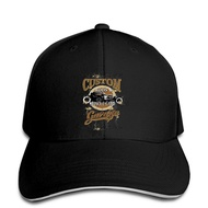Men Baseball Cap Hot Rod Oldscool Kustom Custom Car Vintage Garage Retro Rat Rod V8 Usa Snapback Cap Hat Peaked
