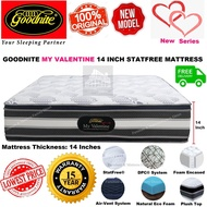 New Series Goodnite 14 inch My Valentine StatFree DPC® Spinal Care Spring Plush Top Mattress / Tilam (Queen/King)