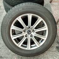 高雄人人 中古鋁圈 Lexus nx200 17吋 原廠鋁圈 5孔114.3 +中古胎 橫濱 G91 225 65 17