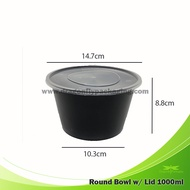 1000ML ROUND CONTAINER WITH LID 300PCS PER CARTON Microwaveable container Soup cup food container plastic container plastic bowl takeout box tub cup food storage meal box