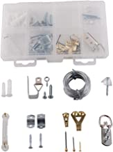 Home Master Hardware Mirror Hanging Kit 87 Piece Includes Wire,Offset Mirror Clips,Hangers, D-Rings,Ring Hangers,Screw Eyes,Sawtooth Hangers for Picture Frames Mirrors Cabinet
