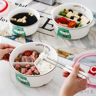 便當盒飯盒可微波爐加熱分隔型餐盒套裝陶瓷分格