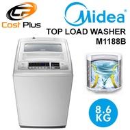 Midea Top Load Washer M1188B / Washing Machine / 3D Waterfall / Child Lock