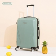 Uniwalker กระเป๋าเดินทาง20/24นิ้วสีเขียวกระเป๋าเดินทางล้อสากล Ultra-Light ขนาดใหญ่กระเป๋าเดินทางแบบลากกระเป๋าเดินทาง
